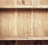 Lege plank op houten achtergrond Royalty-vrije Stock Foto's