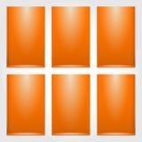 Lege plank voor tentoongesteld voorwerp Stock Foto