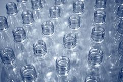 Lege plastic flessen Royalty-vrije Stock Foto's