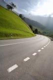 Lege plattelandsweg Stock Foto's