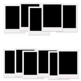 Lege polaroids stock illustratie