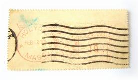 Lege postzegel met poststempels Royalty-vrije Stock Fotografie