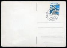 Lege prentbriefkaar met zegel Royalty-vrije Stock Foto