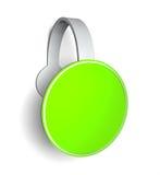 Lege promotie groene sticker Stock Afbeeldingen