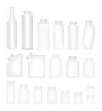 Lege Reeks Plastic Verpakkende Flessen met GLB royalty-vrije illustratie