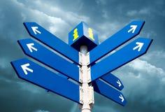 Lege richtingverkeersteken Royalty-vrije Stock Fotografie
