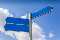 Lege richtingvingerpost Royalty-vrije Stock Afbeeldingen