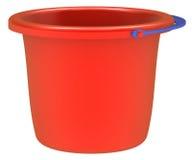 Lege rode emmer. Stock Afbeelding