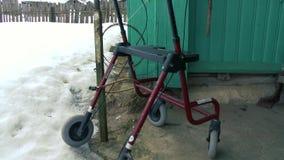 Lege rolstoel status stock video