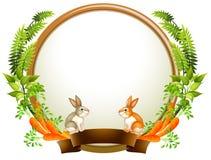 Lege ronde malplaatjes met planten en dieren vector illustratie