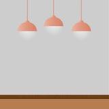 Lege ruimte met lampen Royalty-vrije Stock Afbeelding