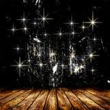 Lege ruimte met lichte ster en lichte stralen Stock Afbeeldingen