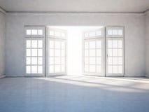 Lege ruimte met open venster royalty-vrije illustratie