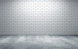 Lege ruimte met tegels op muur en concrete vloer royalty-vrije illustratie