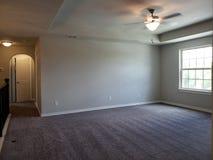 Lege ruimte van eerste verdieping in een nieuw huis TX stock foto's