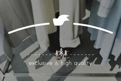 Lege ruimte van hoogte - het kenteken van het kwaliteitsmerk stock afbeeldingen