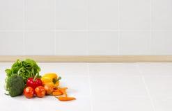 Lege ruimteachtergrond in de keuken Royalty-vrije Stock Fotografie