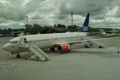 Lege SAS vlucht die op passagiers wachten Royalty-vrije Stock Afbeeldingen