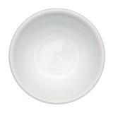 Lege schone kom die op wit wordt geïsoleerdd Royalty-vrije Stock Foto