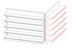 Lege showcase Vectoroverzichtsillustratie stock illustratie