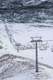 Lege skilift/Skilift voor skilooppas Stock Foto's