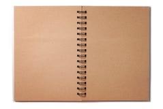 Lege Spiraalvormige Bruine Nota Stock Foto