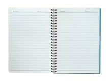 Lege Spiraalvormige nota die op wit wordt geïsoleerdr Royalty-vrije Stock Afbeelding