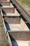 Lege spoorwegauto's Royalty-vrije Stock Foto's