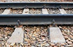 Lege spoorwegsporen stock foto's