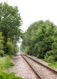 Lege spoorwegsporen Stock Foto