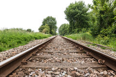Lege spoorwegsporen Royalty-vrije Stock Foto's