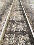 Lege spoorwegsporen Royalty-vrije Stock Foto