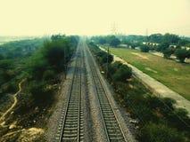 Lege spoorwegsporen Stock Afbeeldingen