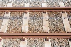 Lege spoorwegsporen stock fotografie