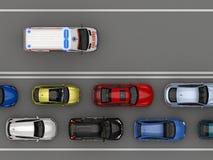 Lege steeg voor een ziekenwagen hoogste mening vector illustratie