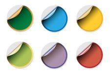 Lege stickerpictogrammen Royalty-vrije Stock Afbeeldingen