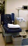 Lege stoel die voor blodschenking wordt gebruikt royalty-vrije stock afbeelding