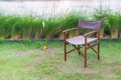 Lege stoel in park Royalty-vrije Stock Afbeeldingen