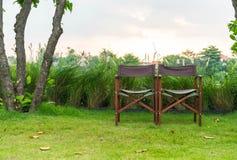 Lege stoel in park Royalty-vrije Stock Foto