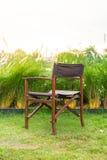 Lege stoel in park Stock Afbeeldingen