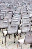 Lege stoelen voor massa. Vatikaan Royalty-vrije Stock Afbeeldingen