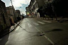 Lege straat Stock Foto's