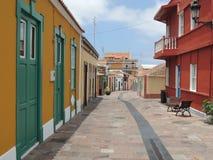 Lege straat in Canarische Eilanden, Los Llanos Stock Foto's