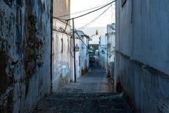 Lege straat in de voorsteden stock foto