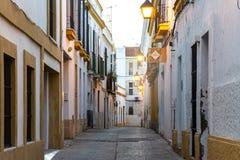 Lege straat in de voorsteden royalty-vrije stock foto