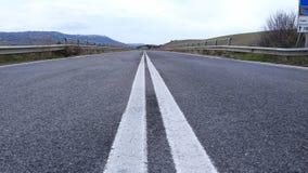 Lege straat - vlak asfalt Stock Fotografie