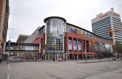 Lege straat in Winnipeg stock afbeeldingen