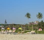 Het strand van Mandrem in Goa Royalty-vrije Stock Afbeelding