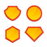 Lege Superhero Logo Template Set Vector Stock Foto