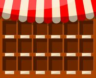 Lege supermarkt houten showcase vector illustratie